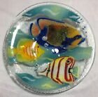 Peggy Karr Fused Art Glass Tropical Fish Bowl Signed 85