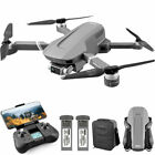4K RC Drones GPS with HD Camera Foldable Quadcopters Battery+Bag Brushless Motor