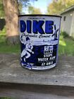 VINTAGE DIKE HYDRAULIC CEMENT 25 POUND CAN GAS STATION SIGN OIL DETROIT MI GAY