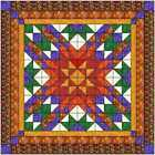 Quilt Kit Autumn Star with Layer Cake Squares Tonals and Autumn Fabric