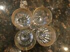 4 Rambler Rose Optic Gold Encrusted by Tiffin Franciscan Wine Cordial Glasses