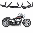 Fit For Harley 2006 17 SOFTAIL FatBoy FLSTN C SE M Black Exhaust Moving Star