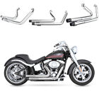 Fit For Harley 2006 17 SOFTAIL FatBoy LOW FLSTN C SE Chrome Exhaust Moving Star