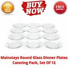 Mainstays Round Glass Dinner Plates Catering Pack Set Of 12