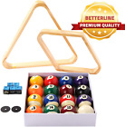 BETTERLINE Billiard Balls Set Pool Table Triangle Ball Rack and 9 Ball Diamond