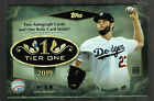 2019 TOPPS TIER ONE BASEBALL FACTORY SEALED HOBBY BOX 2 AUTOS AND 1 RELIC
