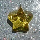 BRAND NEW CITRUS STAR Fire and Light Art Recycled Glass paperweight  SIGNED