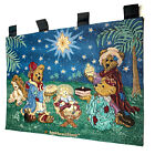 Boyds Bears Christmas Holiday Pageant Wisemen Nativity Tapestry Wall Hanging
