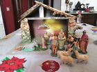 Lot Nativity IN Papier Mache 6 11 CM
