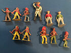 11 Lead Figures Native American and Cowboys