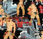 Sexy Firemen Cotton Fabric Ready for Action Alexander Henry 2007 44x36