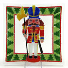 Peggy Karr NUTCRACKER 10 Square Plate Tray Christmas Tree Fused Glass