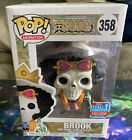 FUNKO POP Brook One Piece Funimation 2018 Fall Convention Exclusive w Protector