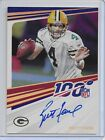 Brett Favre 2020 Panini Chronicles SP On Card Auto Autograph #N100-BF Packers