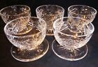 5 Vtg Waterford Crystal Clare Footed Dessert Grapefruit Coupe Dishes