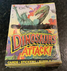 1988 Topps Dinosaurs Attack Wax Box Unopened, Clean Box, 48 ct. With Poster