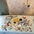 COSTUME JEWELRY ESTATE VINTAGE 2 LBS  ASSORTED Gorgeous PIECES LOT ANTIQUE
