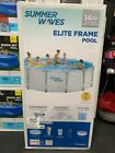 Summer Waves Elite 14ft 14x42 Frame Pool w Filter Pump Cover and Ladder NEW