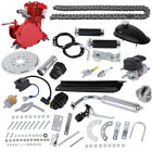 New Red 80CC 2 Stroke Gas Motor Motorized Engine Bike Bicycle Moped Scooter Kit