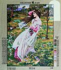Needlepoint tapestry painted canvas Young Lady 20x24 11498 Collection DArt