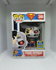 FUNKO POP! CYBORG SUPERMAN #346 2020 DC SUMMER CONVENTION EXCLUSIVE W PROTECTOR
