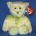 TY FLORA the GREEN BEAR BEANIE BABY - MINT with MINT TAGS