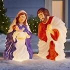 Stoneberry 28 Lighted Nativity Set Includes Mary holding Baby Jesus