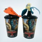 How To Train Your Dragon 2 Movie Cup Topper Figurine Hookfang Stormfly Lot of 2