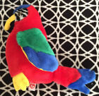 """Ty Beanie Buddies Collection Jabber The Parrot Large 9"""" Bird Vintage Retired EUC"""