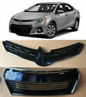 Front Upper Lower Bumper Grille 2pcs for 2014 2015 2016 Toyota Corolla S Sport