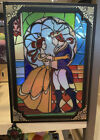 Disney Parks Beauty  The Beast Stained Glass Storybook Journal Notebook New