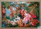 Needlepoint tapestry canvasYoung ladies 36x51 90x130 Gobelin 12464