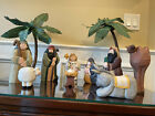 Eddie Walker Midwest Of Cannon Falls Set 9 Large Nativity Christmas Rare