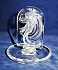 Lalique Frosted Crystal NAIADE Nude Water Nymph Round Pin Tray or Trinket Dish