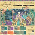 Graphic 45 Midnight Masquerade Double Sided Paper Pad 8X8 24 Pkg