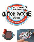 Personalised Woven Name Logo Patches Sew Iron On Badge Tag Hat Jeans Club Biker