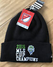 Adidas Seattle Sounders FC MLS Cup 2016 Champions Beanie Soccer Cuffed Knit Hat
