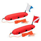 Safe Inflatable Scuba Diving Spearfishing Float Buoy +Dive Flag for Swimming