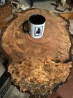 Spalted Burled Thick Figured Silver Maple Thick Tree Slice 155S JR