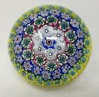 Mid Century Giampaolo Nason Artistic Murano Art Glass Floral Paperweight Italy