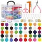 PP OPOUNT 27009 Pieces Glass Seed Beads Kit Multiple Sizes Craft Seed Beads w
