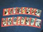 2009 TOPPS UNIQUE FOOTBALL 16 DIFFERENT RED PARALLEL CARDS 799 (18-68)