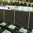 6ft Brown Removable Pool Privacy Fence Inground Pools Safety Security with Poles