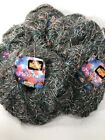 Vintage Madonna Katia Coleccion Boutique Yarn Gray with Red Purple Blue Lot of 7