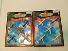 10 MOTOMAX Sky Flites US WW2 Aircraft Airlines Military 2 Cards NIP Die cast