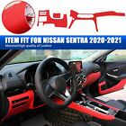 Red Fit Nissan Sentra 2020 2021 Dashboard Panel Decorative Strip Cover Leather