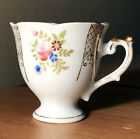 vtg occupied japan ucagco united china  glass gold finish footed demitasse cup