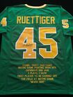 Rudy Ruettiger Signed Autograph Green Stat Football Jersey COA Notre Dame Great