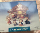 8 Piece Lighted Whimsical Kids Theme Characters Nativity Scene works
