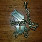 Coach Carriage Heart Tag brass tone Bag Charm key authentic